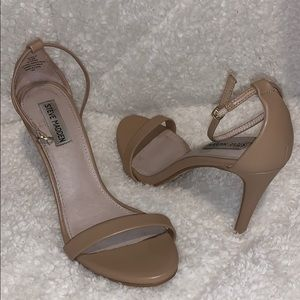 STEVE MADDEN Natural Leather STECY Heels